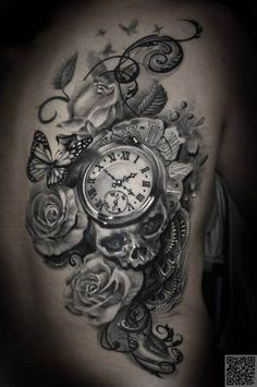 24. A #Little Bit of Everything - 41 #Inspiring and Mostly #Black and White #Tattoos to Inspire Your Next Ink #Session ... → #Inspiration #Spine