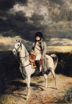 This reproduction painting features Napoleon Bonaparte on horseback. It is based on the original by Jean-Louis Ernest Meissonier. Celebrate French Military History with this poster from The War Is Hell Store. Military Art, Military History, Ludwig Xiv, First French Empire, French History, French Army, Art Database, Napoleonic Wars, Kaiser