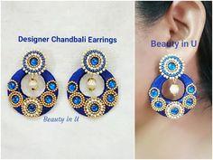 DIY Bridal Earrings | How to make wedding jewelry | JK Wedding Craft 117 - YouTube