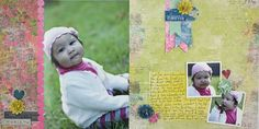 Love You Nancy O'Dell Love Additions Two Page Scrapbooking Layout from Creative Memories