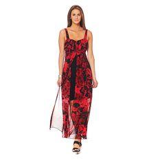 Connected Apparel Floral Apron Dress