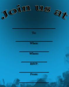 Blue Party Invitations Free Printable Invitations, Printable Party, Party Invitations, Free Printables, Blue Party, Sign I, Rsvp, Free Printable