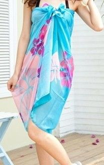 Cheap Blue Flower Sarong online - All Products,Sexy Swimwear,Sarong Fancy Dress Costumes For Women, Beach Wrap Skirt, Sexy Outfits, Fashion Outfits, Women's Fashion, Floral Chiffon, Beach Dresses, Beach Outfits, Women's Dresses