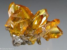 Gemmy amber colored wedge-shaped crystals to in a cluster of at least 10 crystals. Size 2 x x cm Minerals And Gemstones, Crystals Minerals, Rocks And Minerals, Stones And Crystals, Natural Gemstones, Gem Stones, Wiccan Crafts, Beautiful Rocks, Beautiful Flowers