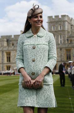 Orgullosa, Kate Middleton luce su embarazo en el desfile de los Scouts en el castillo de Windsor.