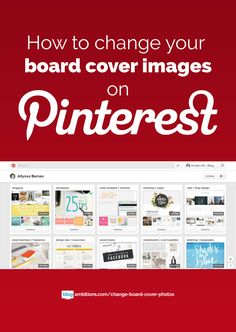 How to change your board cover images on Pinterest