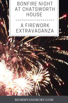 If you fancy wrapping up warm and spending your Bonfire night it the grounds of a stately home, why not head to Chatsworth House. Bring your wellies and get ready for a firework extravaganzalike no other. It's guaranteed to be a night to remember!