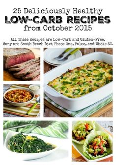 25 Deliciously Healthy Low-Carb Recipes from October 2015 found on KalynsKitchen.com
