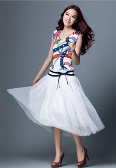 Nueva Moda Para Mujer De Gasa Sin Mangas Vestidos Floral Print Playa Vestido Largo in Ropa, calzado y accesorios, Ropa para mujer, Vestidos   eBay