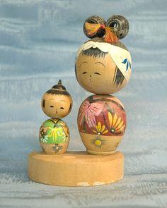 Kokeshi Ningyo Doll Figure Figurine Japan Japanese Nippon Nihon TokaidoSoftypapa