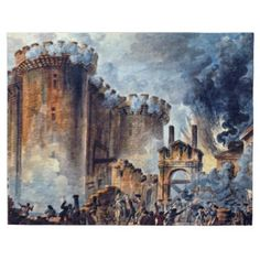 July 1789 – French Revolution: citizens of Paris storm the Bastille (Painting). What perspective do you think this artist is taking? Does he support the revolution? French History, European History, History Class, World History, Storming The Bastille, Age Of Enlightenment, French Revolution, Napoleonic Wars, Louis Xvi