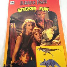 Jurassic Park Sticker Fun Book- Vintage Kids Book 1993 by RetroVintageHeart on Etsy