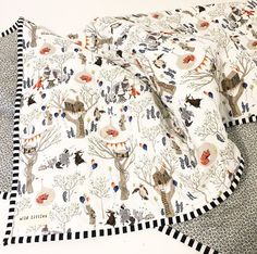 Modern Woodland Animal Toddler Quilt for by WildLittles on Etsy