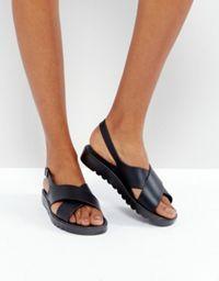 ASOS FLERY Leather Flat Sandals at asos.com 79de396441