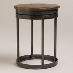 One of my favorite discoveries at WorldMarket.com: Galvin Industrial Stool