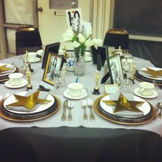 Festival of tables 2013. Classic Hollywood theme.