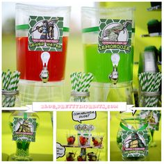 Cowabunga Teenage Mutant Ninja Turtles Party Ideas B - We Love His Tmnt Party And The Fabulous Cookies On It On Hwtm Check Out This Amazing Teenage Mutant Ninja Turtle Candy Buffet From Sweet Bits And Pieces On Karas Party Ideas We Love The C Turtle Birthday Parties, Ninja Turtle Birthday, Ninja Turtle Party, Birthday Ideas, 4th Birthday, Birthday Decorations, Ninja Party, Teenage Mutant Ninja Turtles, Party Ideas