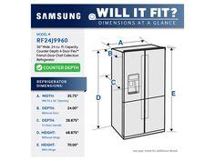 24 cu. ft. Capacity Counter Depth 4-Door Flex™ Chef Collection Refrigerator