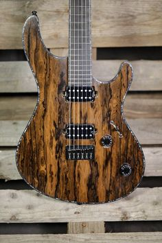 Mayones Guitars Basses Regius 6 Ziricote top loaded with Bare Knuckle Pickups Aftermaths.
