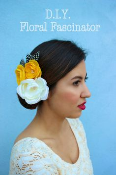 DIY Floral Fascinator. Perfect for brides or special events.