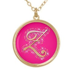 Gold & Diamonds  - Elegant Necklace with Your Initial ''Z''.