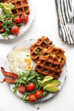 Paleo Sweet Potato Waffles made with four essential ingredients and a low FODMAP option Gluten Free, Dairy Fee, Sugar Free Paleo Recipes Easy, Whole 30 Recipes, Cooking Recipes, Sweet Potato Waffles, Paleo Sweet Potato, Paleo Breakfast, Breakfast Recipes, Paleo Meal Prep, Paleo Dinner