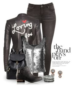 """""""Anything Metallic 2434"""" by boxthoughts ❤ liked on Polyvore featuring Alice + Olivia, Attico, SOREL, FOSSIL and Bernard Delettrez"""