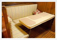 Does your boat need a little love? DIY Boat Cabin Makeover: Before & After Boat Building Plans, Boat Plans, Cabin Cruiser, Build Your Own Boat, Boat Kits, Diy Boat, Boat Stuff, Boat Design, Yacht Design