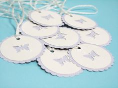 Handmade Tags - Treat Labels, Gift Tags, Thank you Tags - Wedding Favours - Set of 8