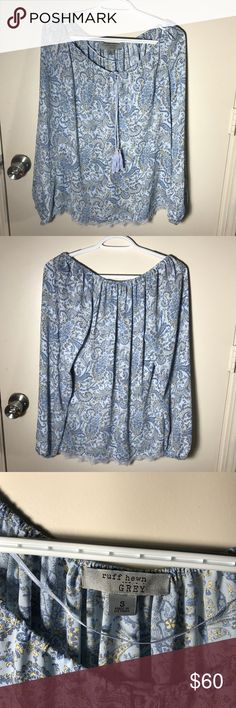 NWT Ruff Hewn Off the Shoulder Paisley Blouse Brand new with tags super pretty blouse. Is meant to be off the shoulder but can just as easily be worn on the shoulders. The bottom has a gorgeous lace trim. Offers welcome🌟 Ruff Hewn Tops Blouses