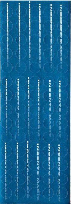 #8007S Blue Foil Dots. Actual size measures 2 7/8 x 8 1/4
