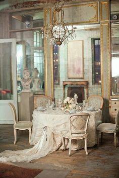 lush table setting