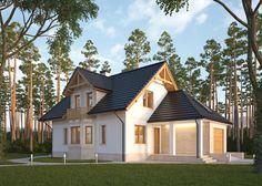 LK&639 Dom jednorodzinny, parterowy z poddaszem użytkowym i jednostanowiskowym garażem. Projekt wykonany w technologii IZODOM 2000  - technologii dedykowanej do budowy domów energooszczędnych i pasywnych. Więcej na: http://lk-projekt.pl/lkand639-produkt-697.html