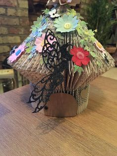 Fairy House origami folded book art by Bellaspapercrafts on Etsy