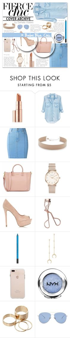 """Baby Blue Chic"" by samella-walters ❤ liked on Polyvore featuring Estée Lauder, Rails, Amapô, Jennifer Zeuner, ROSEFIELD, Charlotte Tilbury, Urban Decay, Shashi, NYX and Call it SPRING"