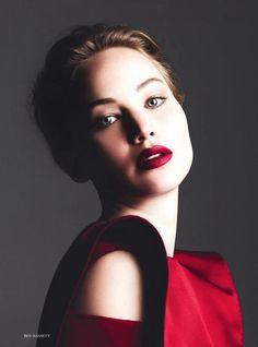 Jennifer Lawrence as Carmen Sandiego.  Looks good in red!