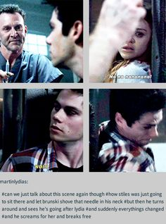 Stiles and Lydia. I knew that they loved each other! I think Lydia and Stiles should be together. (Sorry, Malia) Stiles Teen Wolf, Teen Wolf Stydia, Stiles And Lydia, Teen Wolf Dylan, Teen Wolf Cast, Teen Wolf Memes, Teen Wolf Quotes, Teen Wolf Funny, Scott Mccall