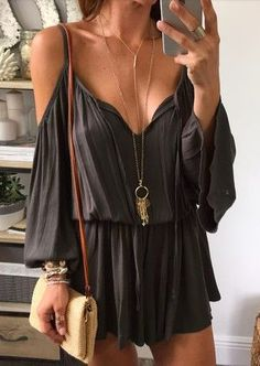 cold shoulder rompers