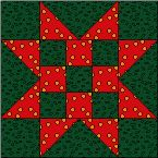 Sawtooth Star Block-basis for the american flag quilt i love