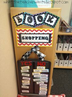 Book shopping management idea for book boxes during the Daily 5