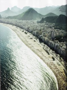 Vogue Spain, May 2011, Leme and Copacabana beach, Rio de Janeiro, Brasil.