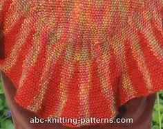 ABC Knitting Patterns - Autumn Shawl with Ruffle. Free pattern!
