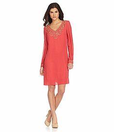 0e4e476ff15 Gianni Bini Valentine Embellished LongSleeve Dress  Dillards