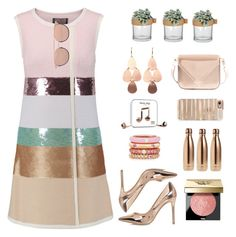 """rose gold"" by art-gives-me-life ❤ liked on Polyvore featuring Giambattista Valli, Linda Farrow, Irene Neuwirth, River Island, Happy Plugs, Alexander Wang, Casetify, Adolfo Courrier, S'well and Bobbi Brown Cosmetics"