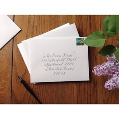 Envelope calligraphy by Cast Calligraphy and Design. Bozeman Montana.