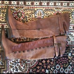 Sam Edelman Pierce over the knee boots Sam Edelman Pierce over the knee thigh high riding boots with buckles and buttons. leather color is whiskey brown. Worn once, in excellent condition. Sam Edelman Shoes Over the Knee Boots