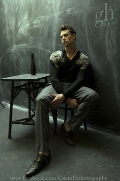 Mens fashion Editorial shot by Gavin Harrison, male model is Andy Barnett.