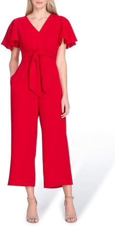 Tahari Short Sleeve Crepe Jumpsuit Plus Size Fashion For Women, That Look, Nordstrom, Legs, Womens Fashion, Sleeves, Jumpsuits, Dresses, Inspiration