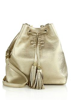 love this gold leather Tory Burch bag