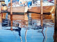 Hull Reflections by Elaine Hahn Original watercolors